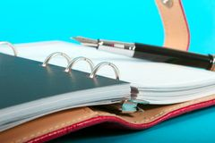 Leather Planner Royalty Free Stock Photo