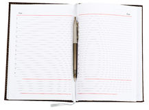Leather daily planner Stock Photo