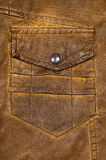 Leather pocket design Royalty Free Stock Photo