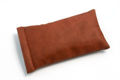 Leather Pouch 01. A small leather pouch for sunglasses Stock Images