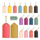 Leather price tag Royalty Free Stock Photo