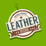 Leather product tag. Leather original product tag Royalty Free Stock Photo