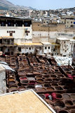 Leather Production. In Madina, Fes, Morocco Royalty Free Stock Image