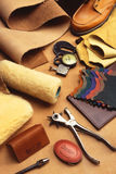 Leather products Royalty Free Stock Images