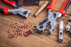 Leather punch tools Stock Image