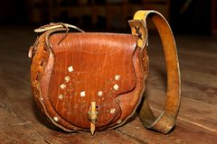 Leather purse Stock Images