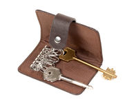 Leather Purse for Keys Stock Photo