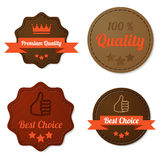 Leather quality labels Royalty Free Stock Photo