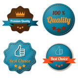 Leather quality labels Stock Photos
