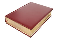 Leather red book Stock Photo