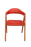 Leather red chair isolated Stock Photos