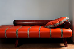 Leather red sofa royalty free stock images