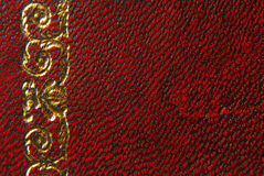 Leather red vintage style Stock Image