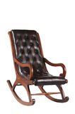 Leather rocking chair Stock Image