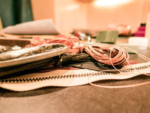 Leather rope royalty free stock image