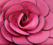 Leather rose. Pic of rose like woman bag Stock Image