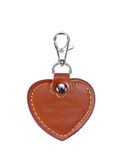 Leather Round Keychain with clip lock for Key Isolated on White Royalty Free Stock Image