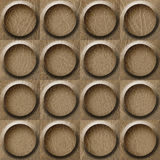 Leather rounded abstract blocks stacked for seamless background Royalty Free Stock Photo