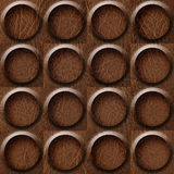 Leather rounded abstract blocks stacked for seamless background Stock Photography