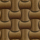 Leather rounded blocks stacked for seamless background Stock Photography