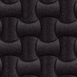 Leather rounded blocks stacked for seamless background Royalty Free Stock Images