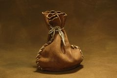 Leather Sack Royalty Free Stock Images