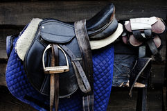 A leather saddle Royalty Free Stock Images