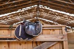 Leather saddle horse Royalty Free Stock Image