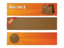 Leather sale banners Stock Images
