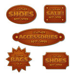 Leather sale tags Royalty Free Stock Photo