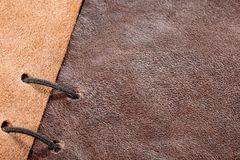 Leather sample Royalty Free Stock Image