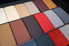 Leather samples Stock Image