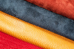 Leather samples Stock Images