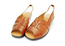 Leather sandals Stock Images