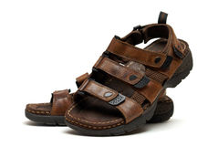Leather Sandals Royalty Free Stock Photo