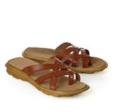 Leather sandals Royalty Free Stock Photography