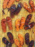 Leather sandals Royalty Free Stock Image