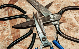Leather Scissors Royalty Free Stock Photo