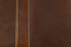 Leather with seam  texture Royalty Free Stock Photo
