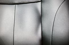 Leather with seam texture Royalty Free Stock Photography