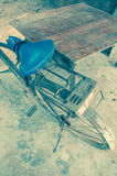 Leather seat old bicycles Royalty Free Stock Image