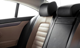 Leather seats with 2 tone Royalty Free Stock Images