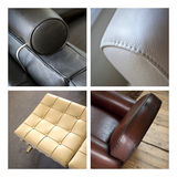 Leather seats and armchair Royalty Free Stock Image