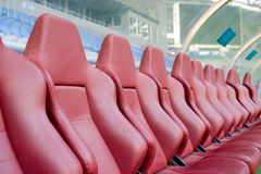 Leather seats for coaches. Leather seats for the coaches Stock Photo