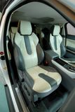Leather seats in the luxury SUV Stock Image