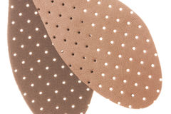 Leather Shoe Insole Padding Isolated Stock Photography