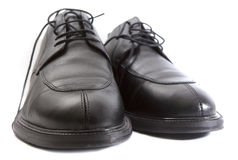 Leather shoes. For man on the white background Stock Image