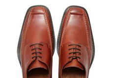 Leather shoes Stock Image