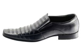 Leather shoes black Royalty Free Stock Photography
