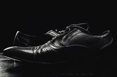 leather shoes of high quality Stock Photography
